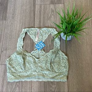 Free People Galloon Lace Racerback Bralette Medium